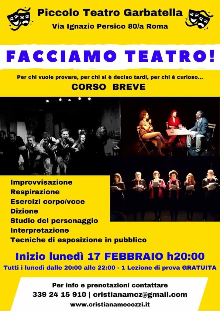 Corso breve al Piccolo Teatro Garbatella